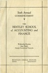 The Bentley School of Accounting and Finance Commencement program, 1925