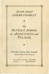 The Bentley School of Accounting and Finance Commencement program, 1926