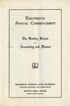 The Bentley School of Accounting and Finance Commencement program, 1937