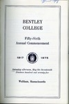 Bentley College Commencement program, 1975 by Bentley University