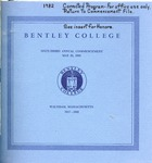 Bentley College Commencement program, 1982 by Bentley University